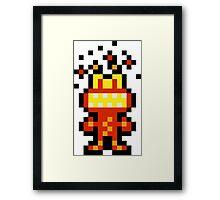 Pixel 'Splosion Man Framed Print