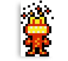 Pixel 'Splosion Man Canvas Print