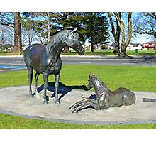 Mare and Foal Sculpture Photographic Print
