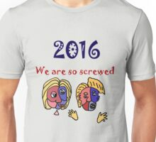 Funny Political Cartoon Anti Trump and Hillary Unisex T-Shirt