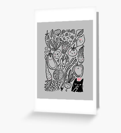 Funny vegetables Greeting Card