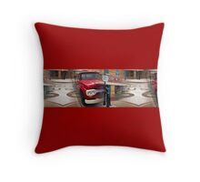"""Standin' on a corner in Winslow Arizona.."" Throw Pillow"
