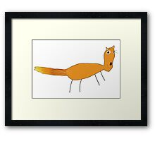 Happy Fox with pencil by Hope Framed Print