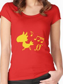 Chocobo Dash Women's Fitted Scoop T-Shirt