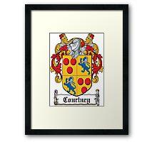 Courtney Coat of Arms (Irish) Framed Print