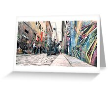 Street art taking shape, Hosier Lane, Melbourne Greeting Card