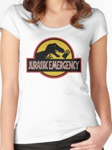 Jurassic Emergency Women's Fitted Scoop T-Shirt