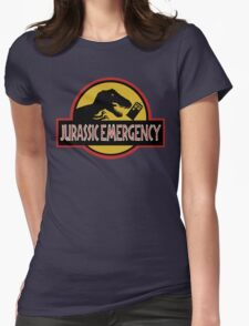 Jurassic Emergency Womens Fitted T-Shirt