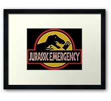 Jurassic Emergency Framed Print