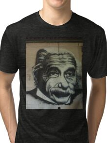 Albert on the wall Tri-blend T-Shirt