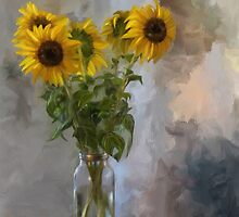 Five Sunflowers by Lois  Bryan