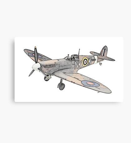 Submarine Spitfire Aircraft Canvas Print