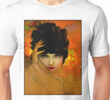 FLAPPER BEAUTY: Vintage Painting Print Unisex T-Shirt