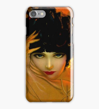 FLAPPER BEAUTY: Vintage Painting Print iPhone Case/Skin