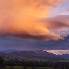 Stormy Sunset over Happy Valley, Myrtleford, Victoria, Australia by Michael Boniwell