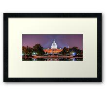 Washington's Dream Capitol Framed Print