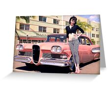 Miss Edsel Greeting Card