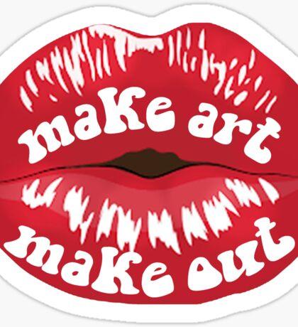 Make Art Make Out Sticker