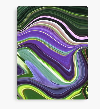 Kathie McCurdy Purple Haze Striped Abstract Canvas Print