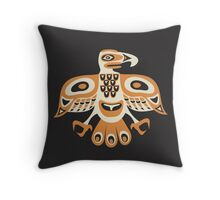 Bird - totem pole style Throw Pillow