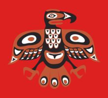 Bird - totem pole style Kids Clothes
