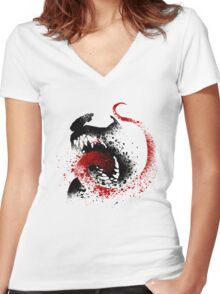 Spider Enemy Women's Fitted V-Neck T-Shirt