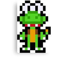 Pixel Croc Canvas Print