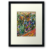 Texture Twist and Shout Framed Print