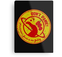 Hitchhiker's Guide Metal Print