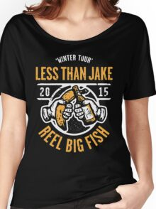 Reel Big Fish Vs Less Than Jake Winter Tour 2015 Women's Relaxed Fit T-Shirt