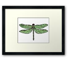 Red Spotted Dragonfly Framed Print