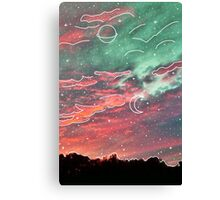 White Galaxy Aesthetic Clouds Canvas Print
