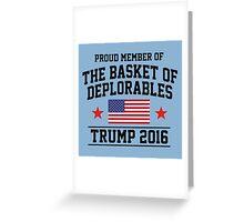 Deplorable TRUMP 2016 Greeting Card