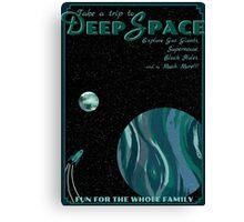 Deep Space Vintage Travel Poster Canvas Print