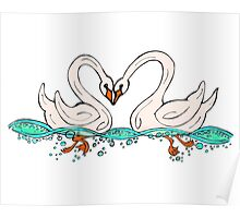 Swan Couple Poster