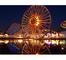 California Adventure at night Photographic Print