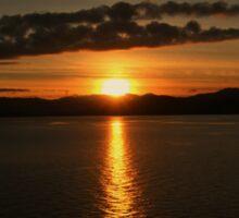 Alaskan Sunset Sticker
