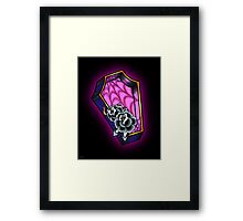 Vacancy - Empty Casket - Tattoo Style Coffin with Roses Framed Print