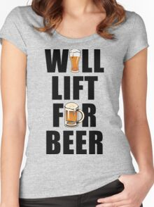 Workout Will Lift for Beer Women's Fitted Scoop T-Shirt