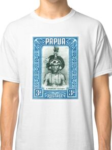 1932 Papua New Guinea Native Dandy Postage Stamp Classic T-Shirt