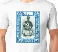 1932 Papua New Guinea Native Dandy Postage Stamp Unisex T-Shirt