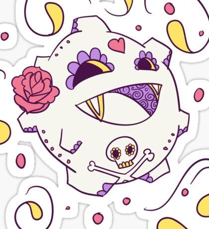 Koffing Popmuerto | Pokemon & Day of The Dead Mashup Sticker
