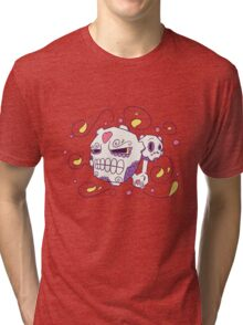 Weezing Popmuerto   Pokemon & Day of The Dead Mashup Tri-blend T-Shirt