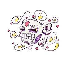 Weezing Popmuerto | Pokemon & Day of The Dead Mashup Photographic Print
