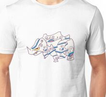 Rhyhorn Popmuerto | Pokemon & Day of The Dead Mashup Unisex T-Shirt