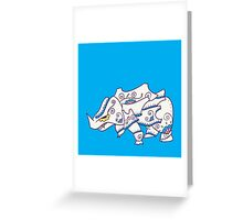 Rhyhorn Popmuerto | Pokemon & Day of The Dead Mashup Greeting Card