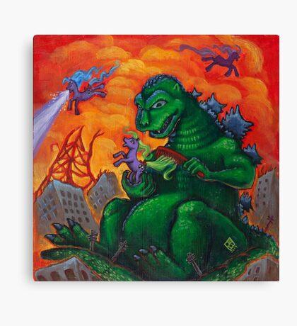 My Little Kaiju Canvas Print