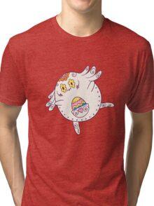 Chansey Popmuerto | Pokemon & Day of The Dead Mashup Tri-blend T-Shirt