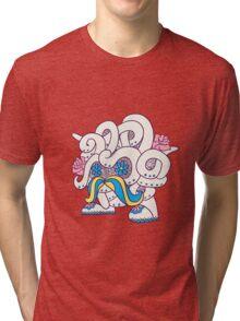 Tangela Popmuerto | Pokemon & Day of The Dead Mashup Tri-blend T-Shirt
