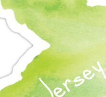 Green Watercolor New Jersey Sticker